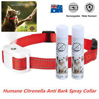 RECHARGEABLE CITRONELLA  ANTI BARK 1 COLLAR + 2 SPRAY STOP BARKING DOG TRAINING