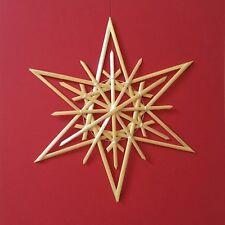 Christmas Tree Decoration - Handmade German Straw Star Ornament – Design 6