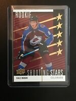 2019-20 UD Series 2 Cale Makar Shooting Stars Rookie Red SSP SS-9 Very Rare -ROY