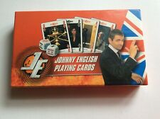 'Johnny English' Themed Poker Playing Cards & Dice Very Good Condition.