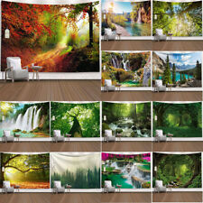 Nature Tree Tapestry Green Forest Wall Hanging Bedroom Living Room Dorm Decor