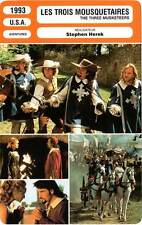 FICHE CINEMA : LES TROIS MOUSQUETAIRES - Sheen,Sutherland 1993 Three Musketeers