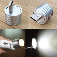 2W Portable Mini USB LED White Spotlight Lamp Mobile Power Flashlight Silver