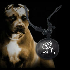 "Pitbull Necklace Awareness Adjustable 14"" - 30"" Animal Leather Pit Bull Necklace"