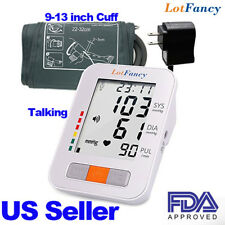 Talking Auto Digital Arm Blood Pressure Monitor Medium Cuff BP Machine Device