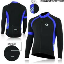 Mens Cycling Jersey Long Sleeve Thermal Windstopper Winter Bicycling Jersey