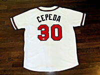 ORLANDO CEPEDA ATLANTA BRAVES HOF SIGNED AUTO HOME WHITE JERSEY JSA AUTHENTIC