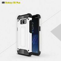 Hybrid Hard Heavy Duty Shockproof Silicone Gel Case Cover For iPhone Samsung   E