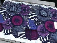 Marimekko Siirtolapuutarha Tea Kitchen towel, NWT, Finland purple gray