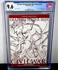 Amazing Spider-Man Civil War Decisions CGC 9.6! Dell'Otto Cover #529-532