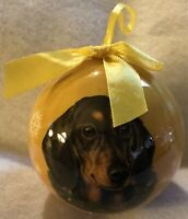 Dachshund Black Dog Kohl's CBO-14 E & S Pets Christmas Tree Ornament in Box