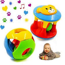 2pcs Baby Newborn Little Loud Jingle Rattle Rolling Ball Ring Bell Grasp Toy L6X