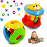 2pcs Baby Newborn Little Loud Jingle Rattle Rolling Ball Ring Bell Grasp ToyHGU