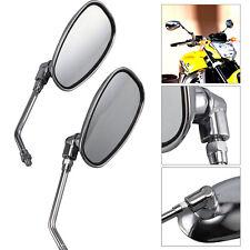 Paar Spiegel Chrom Motorradspiegel verchromt rund kurz Rückspiegel M10x1.25 NEU