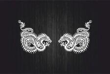 2x Adesivi adesivo sticker moto auto biker casco tuning drago tribale serpente C