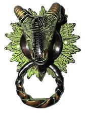 Goat Head Shape Vintage Antique Finish Handmade Brass Door Knocker Home Decor