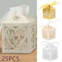 25 pcs Luxe Mariage Bonbons Boîte-Cadeau Doux Gâteau Boîtes Bébé Fête Douche BR