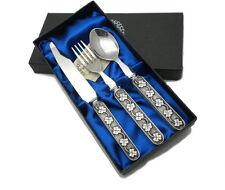 Irish Made SHAMROCK Baby Spoon Fork Knife Mullingar