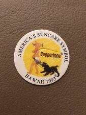 COPPERTONE Hawaii 1993 Milk Cap Pog Game Piece NEW