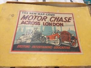 Vintage 1930's motor chase across London by geographia very rare complete