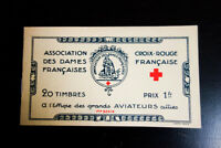 France WWI Army Generals Complete Booklet of 20 Stamps