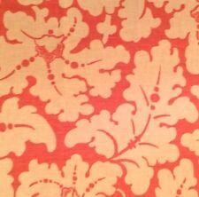 ELIZABETH BENEFIELD Lyme Raspberry Floral Linen Remnant New