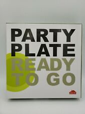 Good Life Party Plate Ready to Go Set Of 6 Pieces New Open Box Color Transparent
