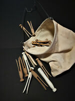 VINTAGE CANVAS CLOTHESPIN BAG, GREAT NOVELTY, FASHIONABLE STORAGE