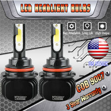2x 9007 HB5 1500W 225000LM LED Headlight Car Hi/Lo Beam CREE Bulbs 6000K White