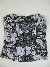 Corsage Top Halter Top Orsay 34 Flowers Ornamented Black White without Belt / Y