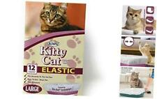 Alfapet Kitty Cat Litter box Disposable, Elastic Liners- 12-count-For Medium and