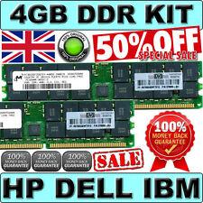 UK SELLER (2x 2GB) PC3200R ECC REG 4GB DDR 400 HP P/N 373030-851 GENUINE MEMORY