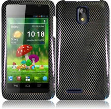 For Cricket ZTE Engage LT N8000 HARD Protector Case Phone Cover Carbon Fiber