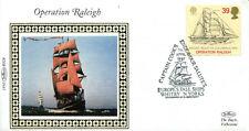 7 APRILE 1992 EUROPA BENHAM piccola Seta PRIMO GIORNO DI COPERTURA operazione Raleigh SHS