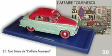 Taxi Simca L'Affaire Tournesol En voiture Tintin #21 Atlas