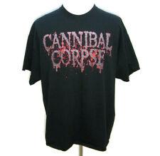 CANNIBAL CORPSE Mens (Size 2XL) Black Death Metal Rock Band Tour T-Shirt Graphic