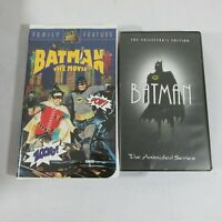 VHS BATMAN THE MOVIE AND THE ANIMATED SERIES THE COLLECTOR'S EDITION