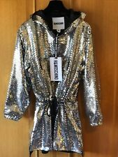 MOSCHINO para H&M Vestido con capucha y lentejuelas Talla S over size