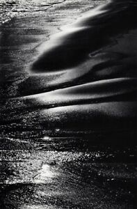 1968 Vintage LUCIEN CLERGUE Beach Wet Sand Sea Water Abstract Photo Art 12x16