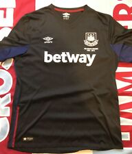 WEST HAM UTD XL 2015/16 3rd DARK BLUE/ BLACK UMBRO SHIRT, FAREWELL BOLEYN