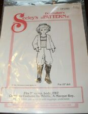 Seeley's Dollmaker's A-Marque Boy Doll Costume Pattern Cp1102 1984