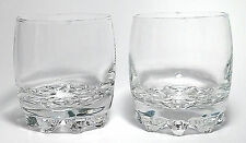 Clear Rock Glasses Footed Tumblers Italy Bormioli Rocco Set Of 2