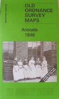 Old Ordnance Survey Map Ancoats nr Piccadilly Mancheser 1849 Godfrey Edition New