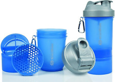 SmartShake Protein Shaker Cup 600ml (Blue & Sliver)