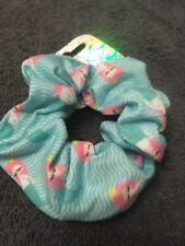 Mermaid hair scrunchie fabric elastic bobble ponytail holder girls band blue