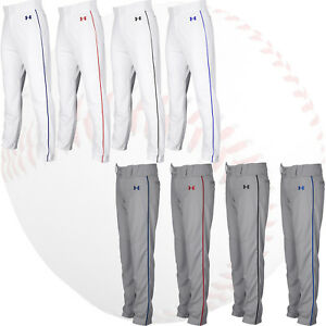Under Armour Utility Relaxed Piped YOUTH Baseball Pants w. Braid Piping 1317458