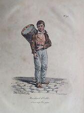 Garçon vendeur sempre si vince pari LOTTO lithographie XIX siècle JEU
