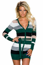 Cardigan da donna in lana verde