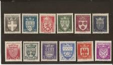 FRANCE- 1942-  Arms of Cities set of 10- good price