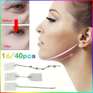 16/40X Invisible Thin Face Stickers V-Shape Facial Line Wrinkle Lift NEW